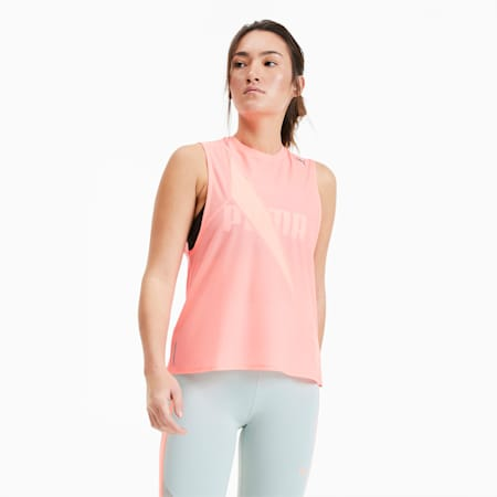 Pearl Mesh trainingstop voor dames, Nrgy Peach, small