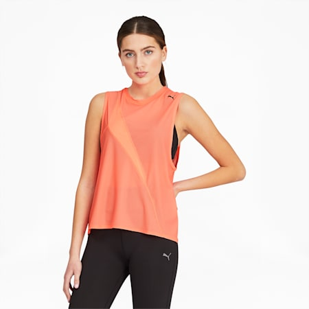 Train Pearl Women's Mesh Tank, Nrgy Peach, small