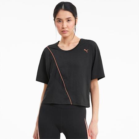 Camiseta de entrenamiento Pearl para mujer, Puma Black, small