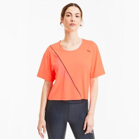 T-shirt da allenamento Pearl donna, Nrgy Peach, small