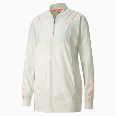 Pearl Woven Women's Training Jacket, Marshmallow, small-SEA