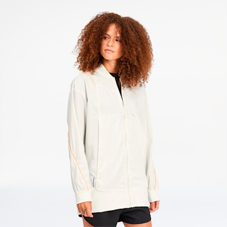Train Pearl Women's Woven Jacket, Marshmallow, small