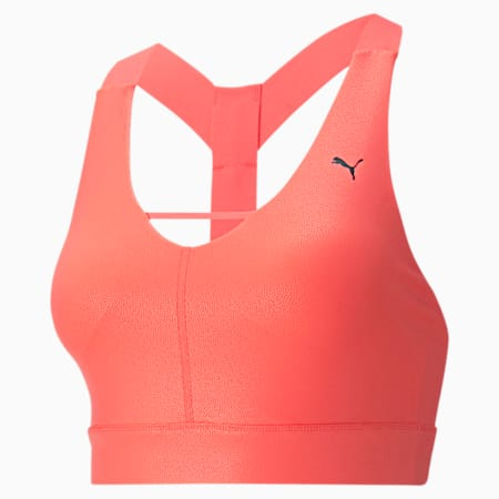 Mid Impact Pearl Women's Training Bra, Nrgy Peach, small-IND