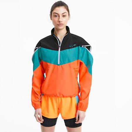 PUMA x FIRST MILE Xtreme Women's Training Jacket, BlkViridianGreenUltraOrange, small