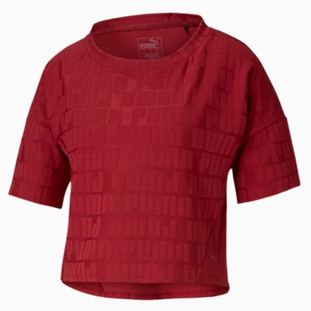 PUMA x FIRST MILE Mono dryCELL Women's Training T-Shirt, Red Dahlia, small-IND