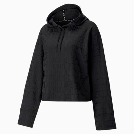 Sweat de sport à capuche et manches longues First Mile Mono femme, Puma Black, small