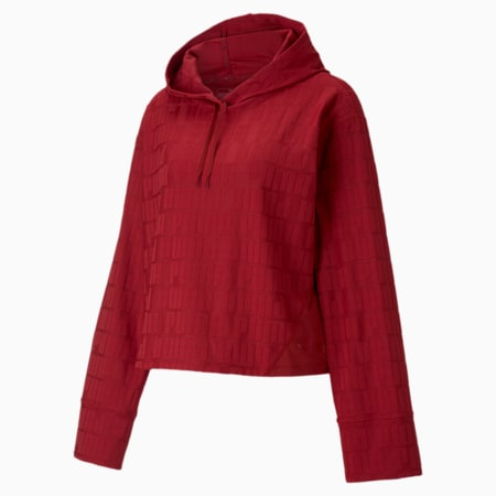 First Mile Mono dryCELL Women's Training Hoodie, Red Dahlia, small-IND
