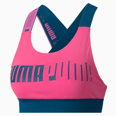 Feel It Women's Mid Impact Bra, Luminous Pink, small