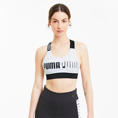 Mid Impact Feel It Women's Training Bra, Puma White, small