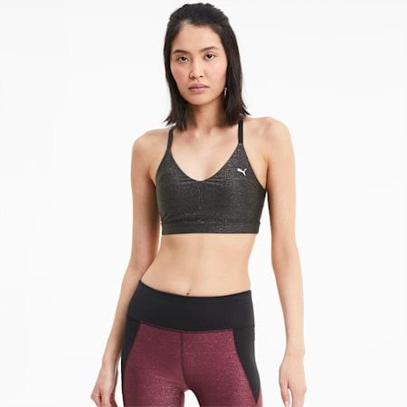 Low Impact Strappy Women's Training Bra, Puma Black, small-IND