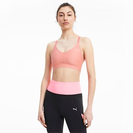 Low Impact Strappy Women's Training Bra, Luminous Peach, small