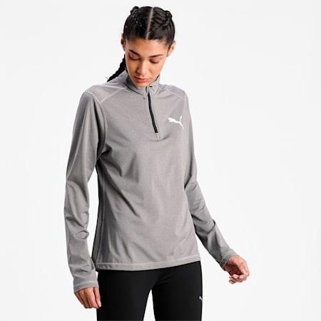 Cross The Line Quarter-Zip Women's Performance T-Shirt, Medium Gray Heather, small-IND