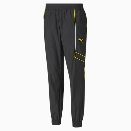 PUMA x GOLD'S GYM Woven windCELL Training Sweatpants, Puma Black-Dandelion, small