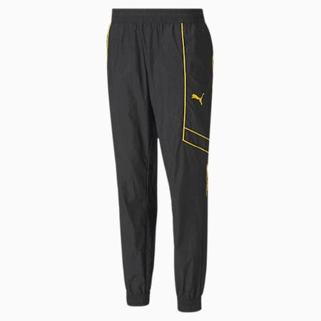 Tkane spodnie treningowe windCell PUMA x GOLD'S GYM, Puma Black-Dandelion, small