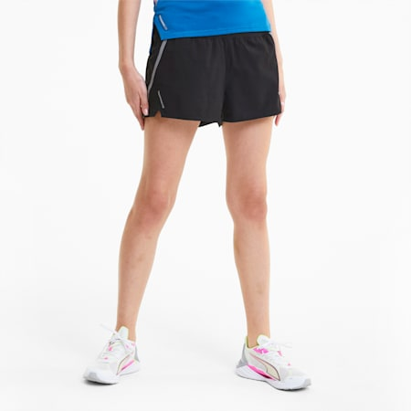 Run Lite Women's Woven Shorts, Puma Black, small