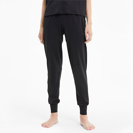 Studio Knit dryCELL Regular Fit Women's Training Relaxed Pants, Puma Black, small-IND