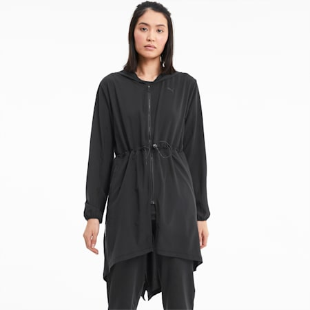 Studio Flow Woven Hooded Women's Training Jacket, Puma Black, small