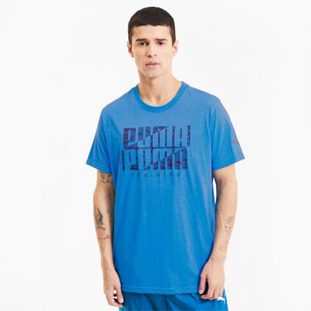 Performance Branded Short Sleeve Men's Training Tee, Nrgy Blue-Digi Camo PUMA, small