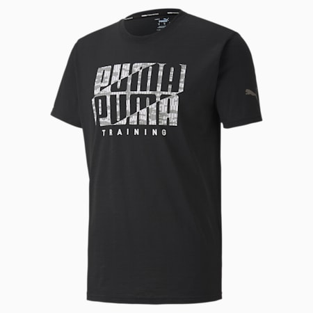 T-Shirt Performance Branded Training pour homme, Puma Black-Wht Camo PUMA, small