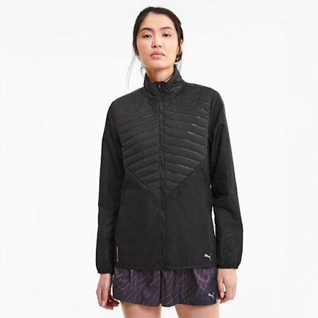 Favourite Women's windCELL Running Puffer Jacket, Puma Black, small-IND