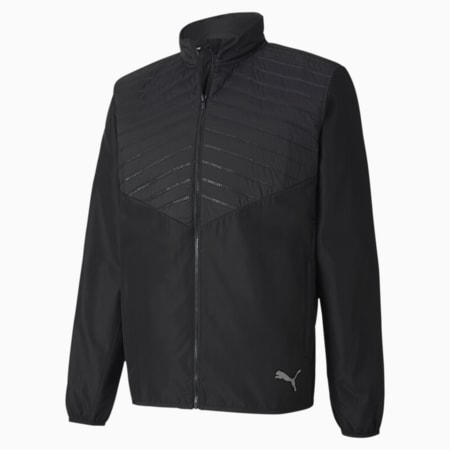 Favourite windCELL Men's Puffer Running Performance Jacket, Puma Black, small-IND