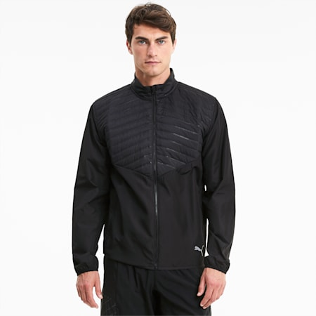 Favourite Puffer Men's windCELL Running Jacket, Puma Black, small-IND