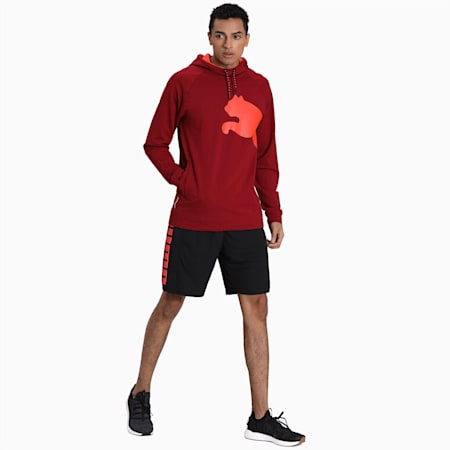 PUMA Cat Sweat Hoodie, Rhubarb-Nrgy Red, small-IND