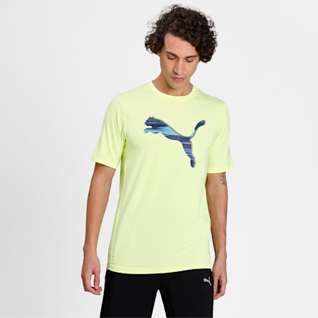 one8 Virat Kohli Men's Active Slim T-Shirt, Fizzy Yellow, small-IND