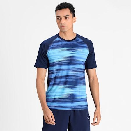 Virat Kohli Mens Active T-Shirt II, Peacoat-AOP, small-IND