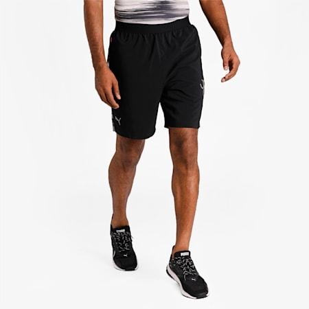 one8 Virat Kohli Active Woven Men's Shorts, Puma Black-AOP, small-IND