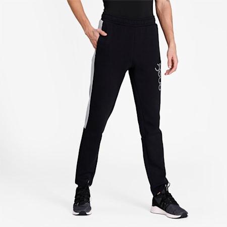 PUMA X Virat Kohli Men's Active Sweatpants, Puma Black-Nrgy Peach, small-IND