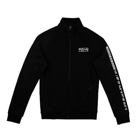 PUMA x Virat Kohli Knitted  Full-Zip Boy's Sweatshirt, Puma Black, small-IND