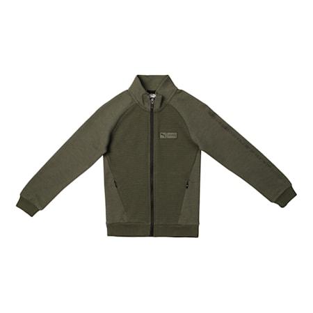 PUMA x Virat Kohli Knitted  Full-Zip Boy's Sweatshirt, Thyme, small-IND
