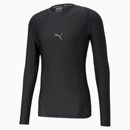 Exo-Adapt Men's Long Sleeve Training Tee, Puma Black, small-SEA
