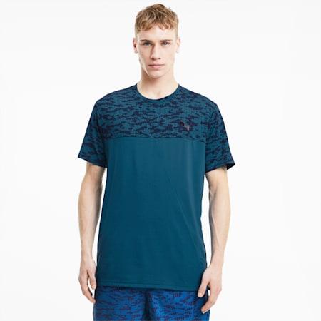 トレーニング AOP ベンド 半袖 Tシャツ, Digi-blue, small-JPN