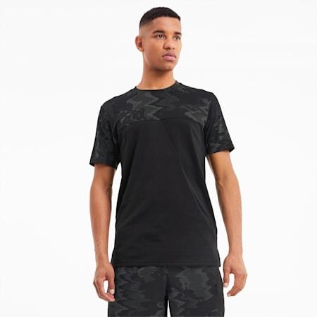 トレーニング AOP ベンド 半袖 Tシャツ, Puma Black-Q4 AOP, small-JPN