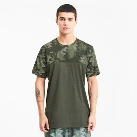 トレーニング AOP ベンド 半袖 Tシャツ, Thyme-Q4 AOP, small-JPN