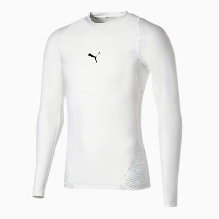 トレーニング プーマ EXO-ADAPT クルーネック 長袖 Tシャツ, Puma White, small-JPN