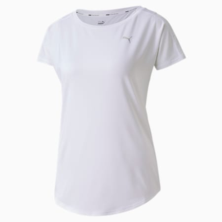 トレーニング ウィメンズ 半袖 Tシャツ, Puma White, small-JPN