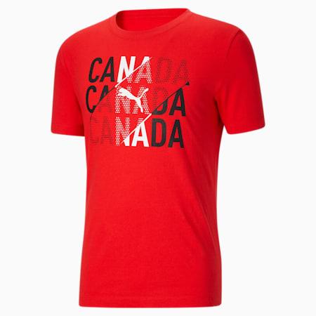 Camiseta para fanáticos de Canadá para hombre, Puma Red-Canada, pequeño