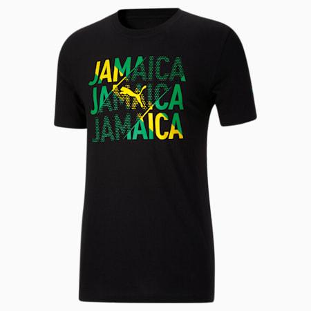 Camiseta para fanáticos de Jamaica para hombre, Puma Black-Jamaica, pequeño