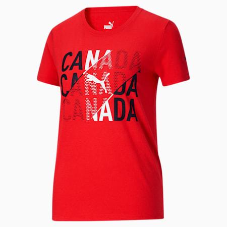Camiseta para fanáticos de Canadá para mujer, Puma Red-Canada, pequeño