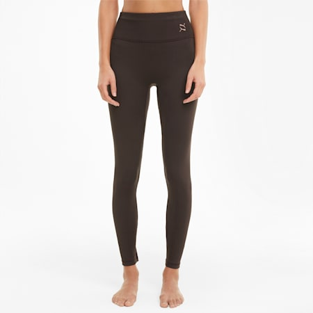 Exhale High Waist Women's Training Leggings, After Dark, small-GBR
