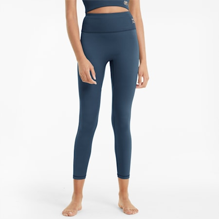 Exhale High Waist Women's Tights, Ensign Blue, small-IND