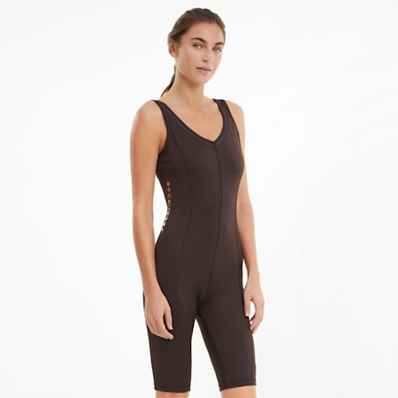 Exhale Biker Women's Training Leotard, After Dark, small