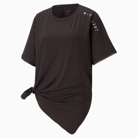 Exhale Boyfriend Women's Training Relaxed T-shirt, After Dark, small-IND
