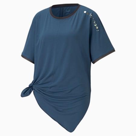 Exhale Boyfriend Women's Training Tee, Ensign Blue, small