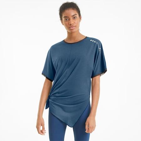 Damski T-shirt treningowy Exhale Boyfriend, Ensign Blue, small