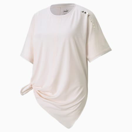 Exhale Boyfriend Women's Training Relaxed T-shirt, Pastel Parchment, small-IND