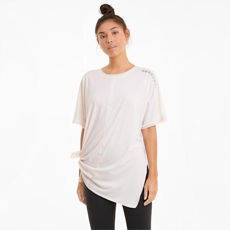 Damski T-shirt treningowy Exhale Boyfriend, Pastel Parchment, small